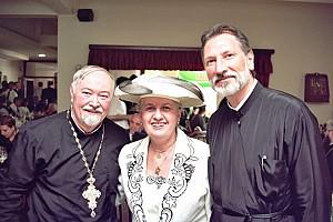 Јеромонах Иринеј (садашњи Епископ) са протом Василијем и протиницом Загорком